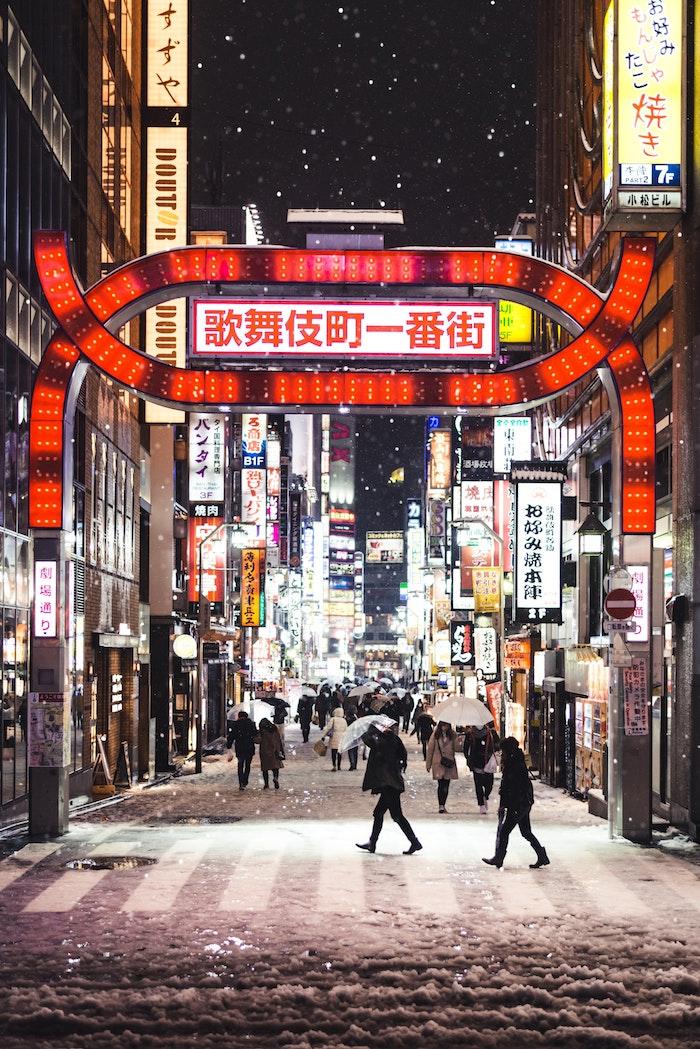 Asia paysage urbain, Tokyo en hiver photographie artiste de grandes villes, magnifique photo pour fond d'écran asiatique