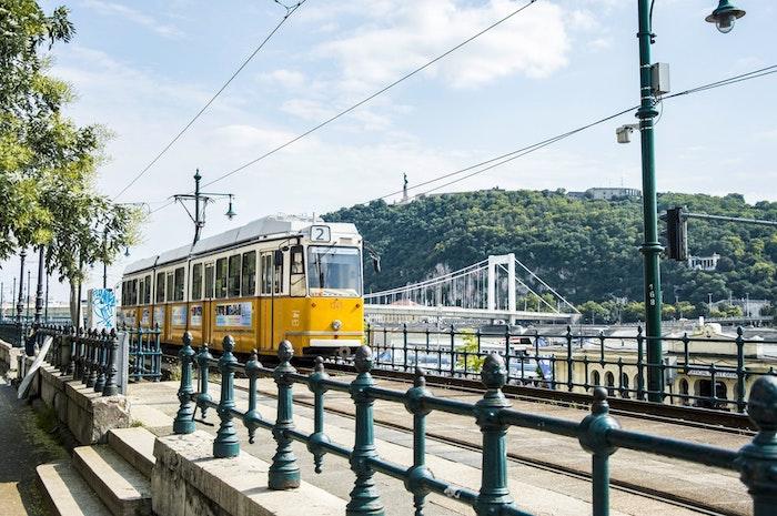 Budapest jaune tram beau dessin paysage, mexique paysage, comment dessiner d'une photo