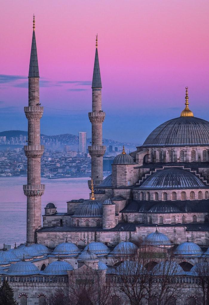 Istanbul Saint Sofia photo de paysage, cité de beauté, fond d'écran ordinateur