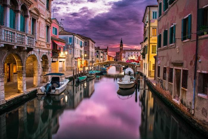 Les canals de Venise fond d'écran paysage, beau paysage urbain, image à télécharger
