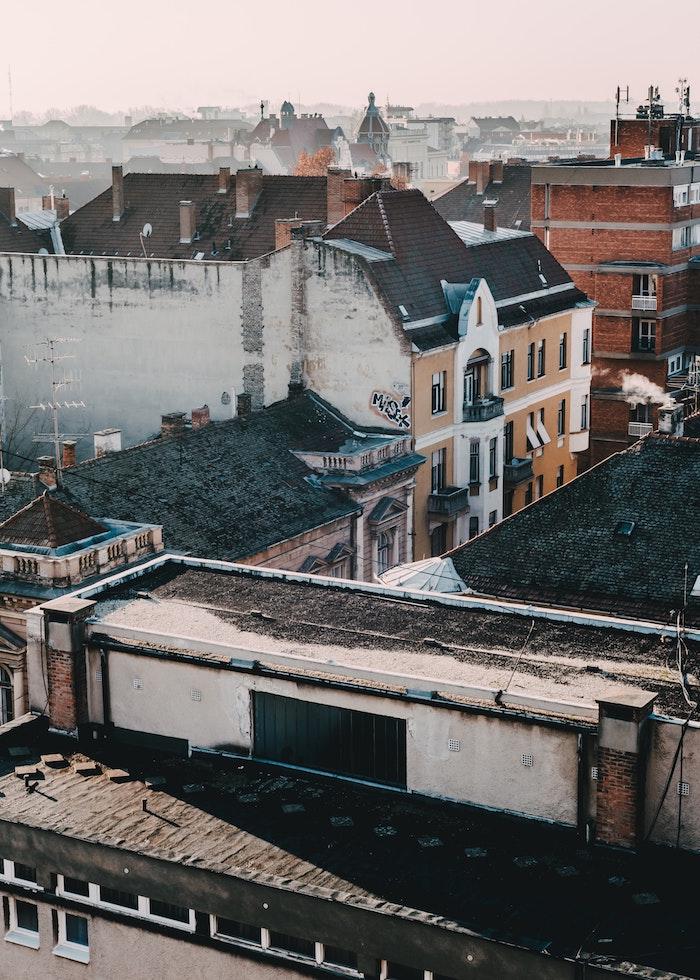 Image de ville europeen beau paysage urbain, image à utiliser pour fond d'écran libre de droit