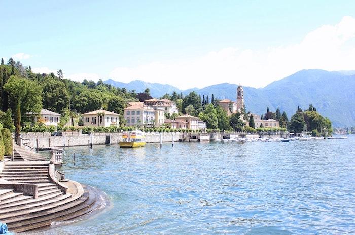Italie image de paysage, le plus beau paysage ville pour arrière plan, le lac du Como vue avec montagne et lac