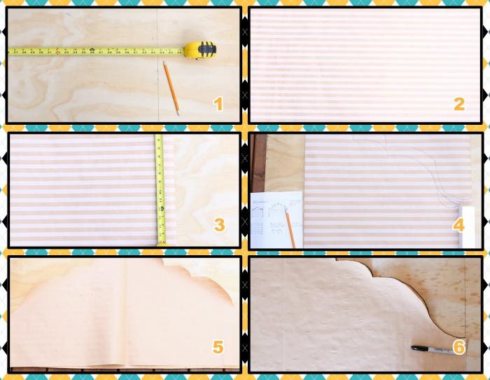 étapes à suivre pour faire une tete de lit, tutoriel pour réaliser un gabarit en tissu ou papier, personnaliser sa déco avec objets fait main