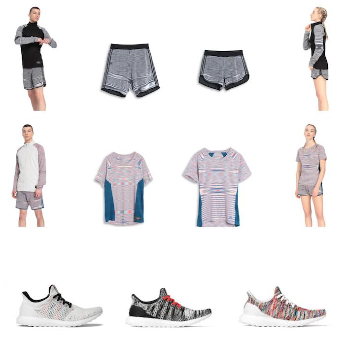 Adidas X Missoni avec une série de tee shirts, shorts et chaussures ultra Boost dédiés à la course à pied