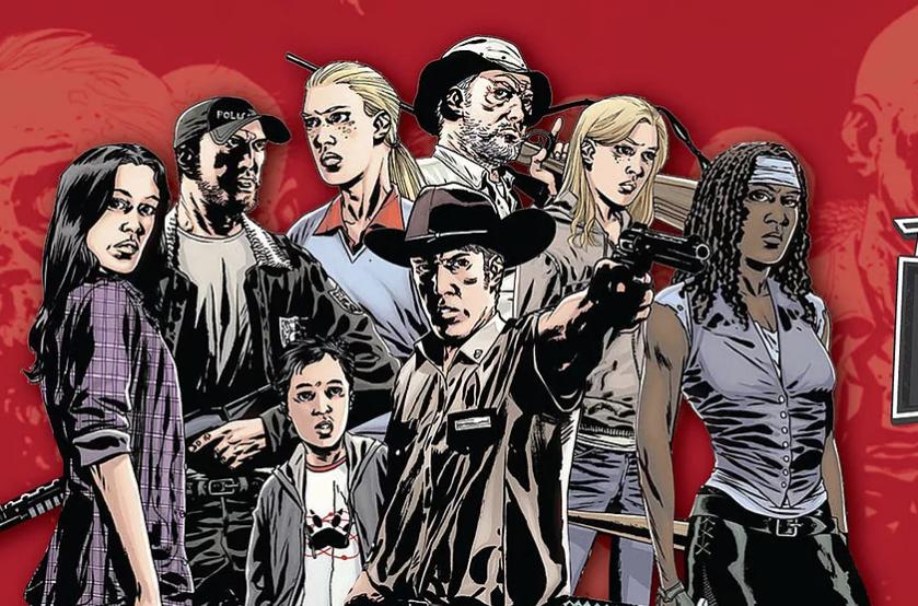 image de la bande dessinée The Walking Dead adaptée en série puis en spin-off pour la chaine AMC