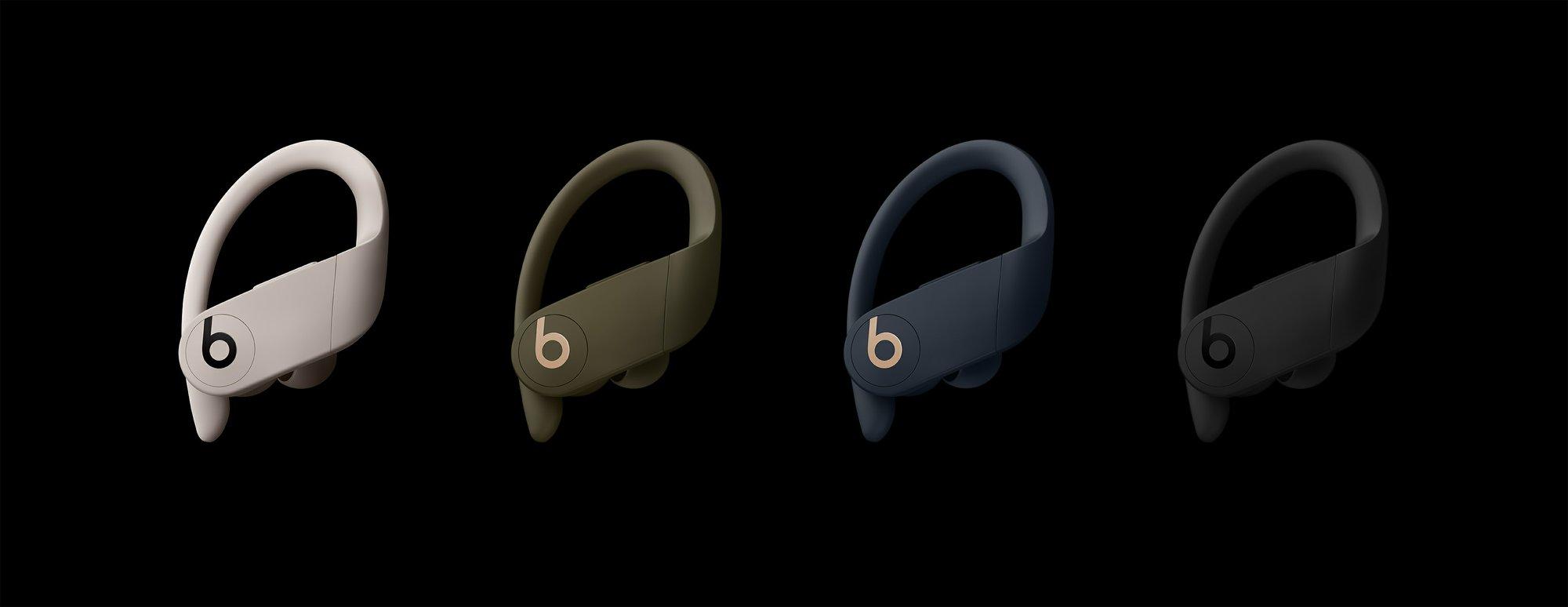 Beats by Dre avec Apple lance les nouveaux écouteurs sans fil Powerbeats Pro dans différents coloris