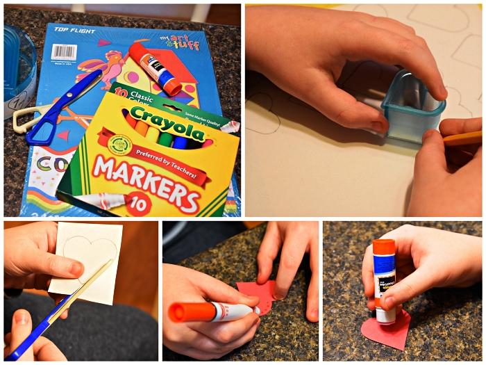 bricolage fête des mères facile à faire avec les enfants de l'école maternelle, carte pour la fête des mères vase de fleurs en papier