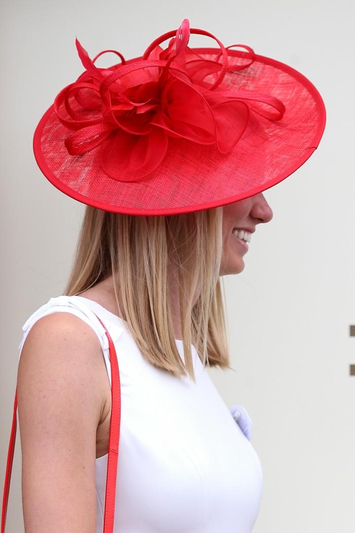 chapeau de mariage plat,
