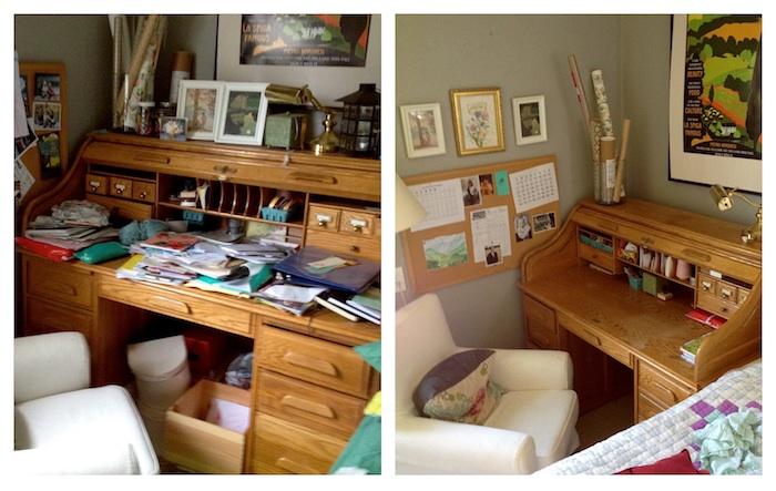 Photo avant apres le rangement, etagere rangement pour la chambre à coucher, astuce rangement chambre petit espace