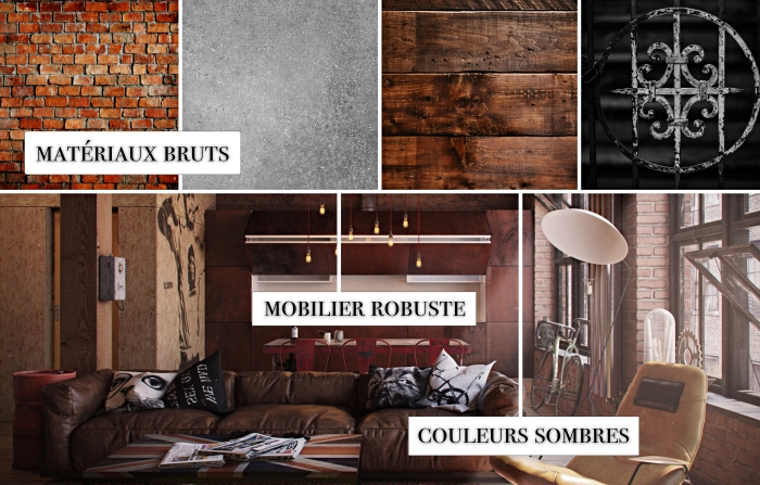 meuble style industriel, aménagement loft industriel aux murs en briques rouges, exemple de cuisine ouverte style industriel