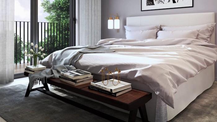 Belle chambre adulte, rangement livre dans la banque de lit, les meilleurs astuces rangement chambre insolite