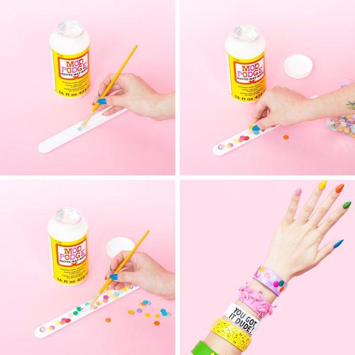 étapes à suivre pour réaliser un bracelet original, idée cadeau copine, comment faire des bijoux soi-même, diy bracelet facile