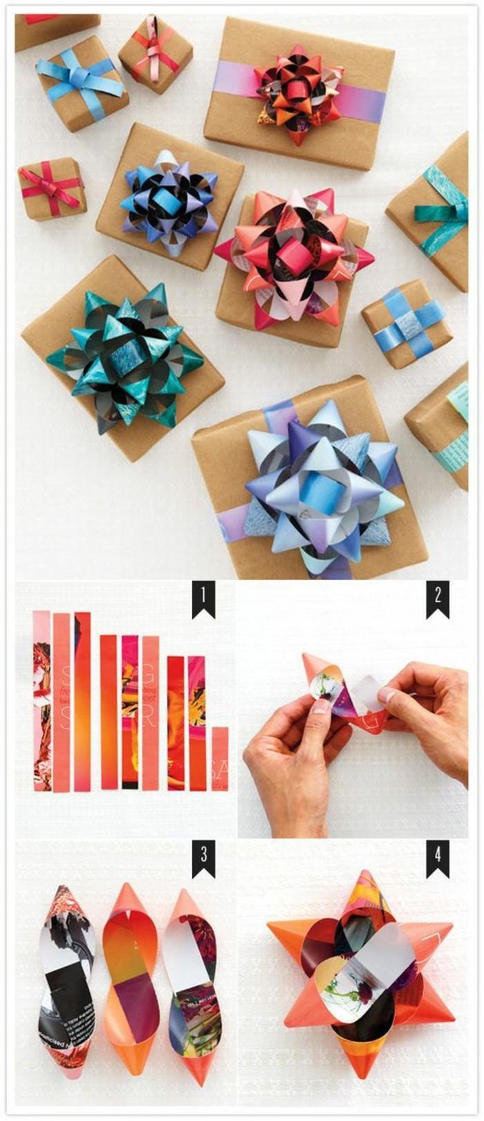 comment emballer un cadeau d'anniversaire, idée cadeau anniversaire maman, tutoriel pour faire des papillons cadeau
