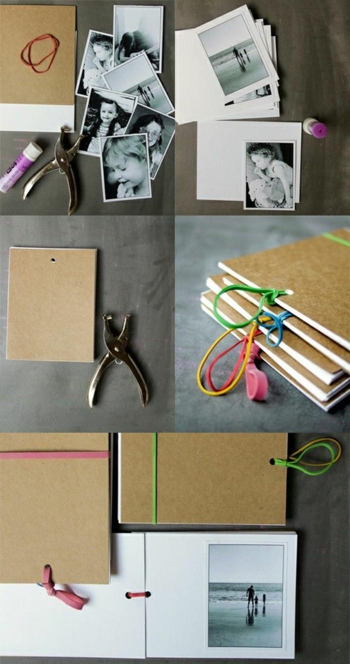cadeau original a fabriquer, tutoriel pour réaliser un album photo, activité manuelle amusante, que faire avec ses photos