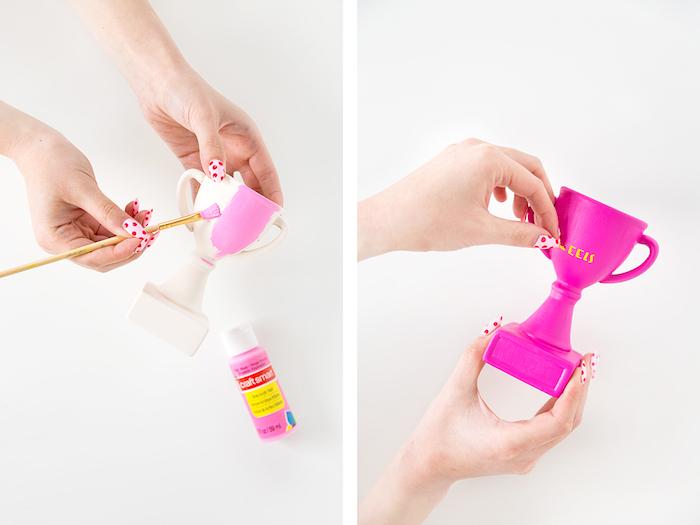 fabriquer un cadeau original, idée cadeau anniversaire maman, modèle de petit trompée DIY avec lettres anniversaire