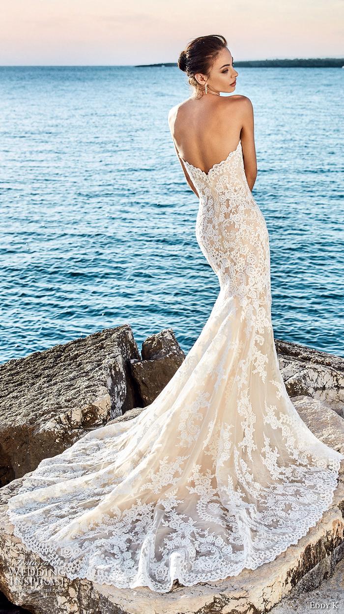 Dentelle longue bustier robe dos nu, robe de mariée princesse dentelle, robe de mariée champetre chic