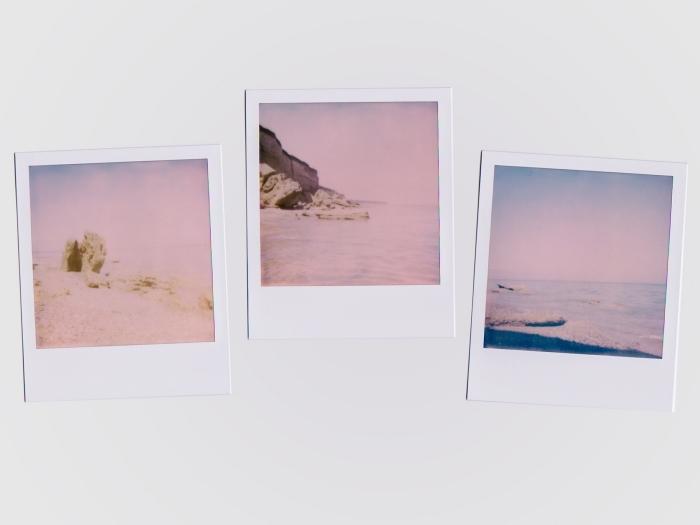 collage instagram pour wallpaper ordinateur, idée fond d écran cool en blanc avec cadres photos et paysages naturels