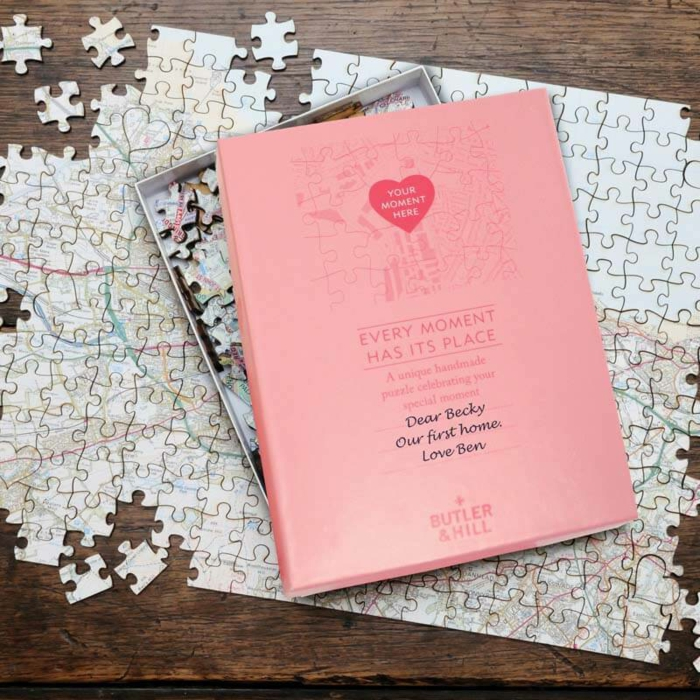 Puzzle cadeau anniversaire de mariage original, idée cadeau pour mariage, puzzle avec carte