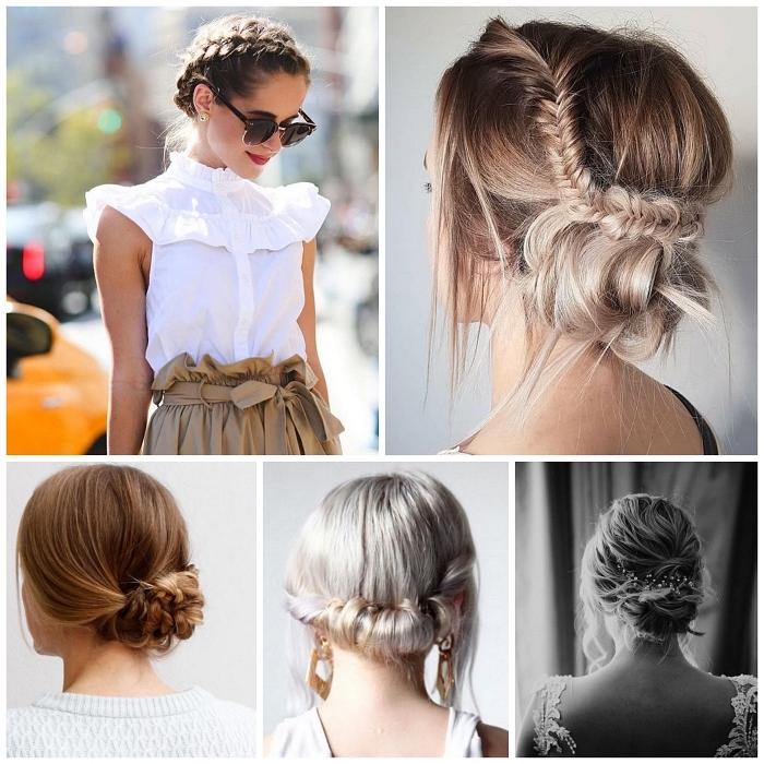 idées de coiffures faciles pour l'été inspirées du style bohème chic, comment réaliser un chignon facile bohème chic