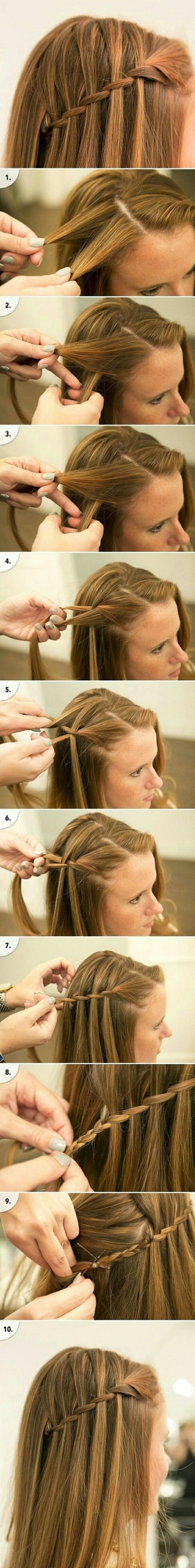 tuto tresse en cascade à faire soi meme, technique tresser des cheveux blond foncé, coiffure pour soirée et de tous les jours