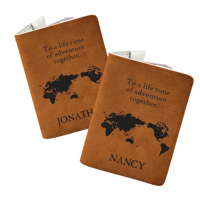 Passport couverture cadeau a faire soi meme, idée cadeau mariage, chouette idée de cadeau original