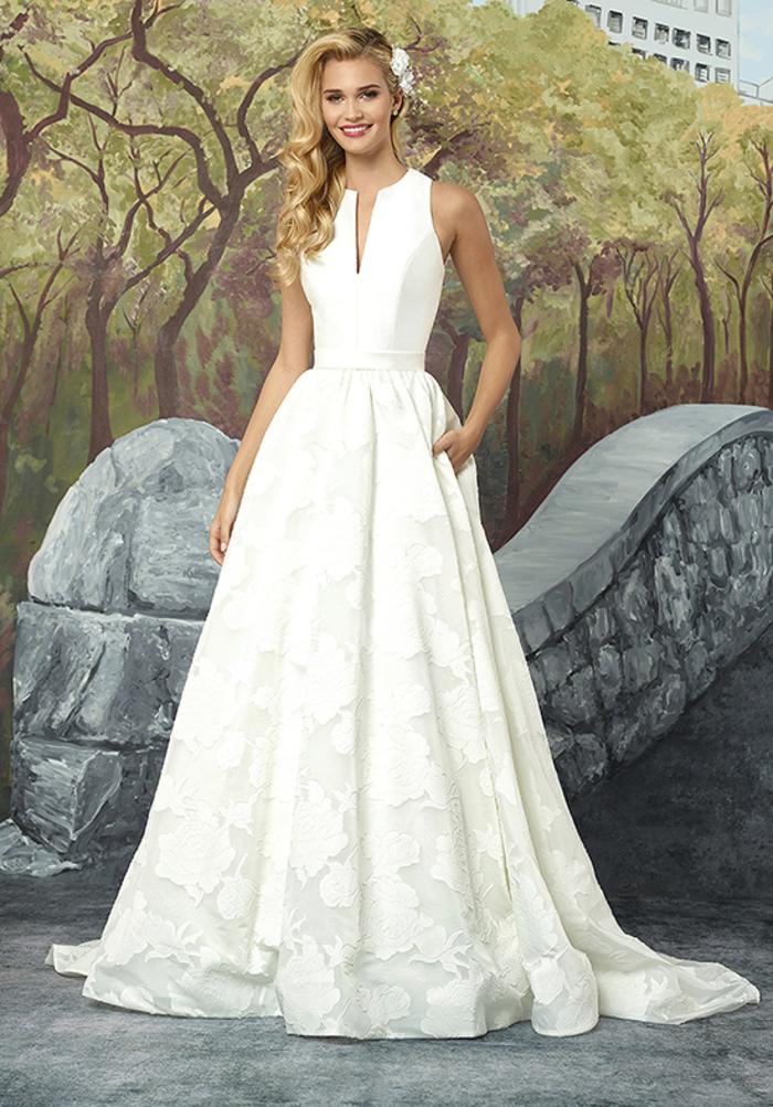 Chouette robe de mariée magnifique bustier, robe mariee de luxe style bal de promo, classique robe blanche belle coupe