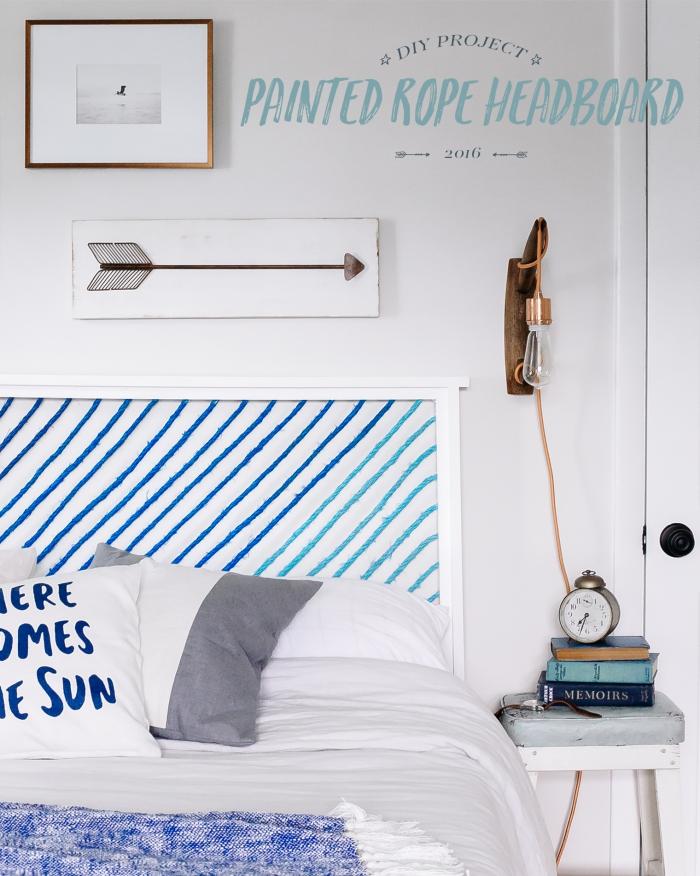 technique de décoration facile chambre ado, activité manuelle facile pour ado, fabriquer une tete de lit en bois et fils