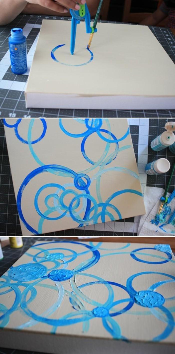 déco avec peinture abstraite, décorer ses lurs de manière facile et créative