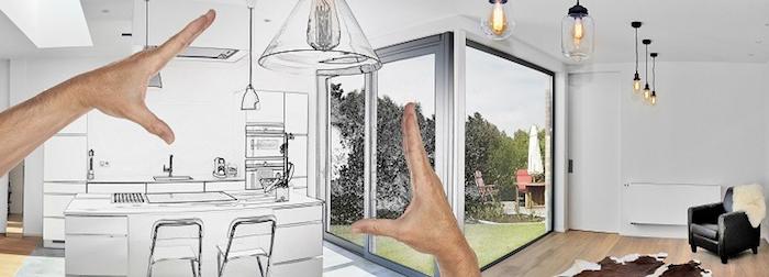 image illustration idées de rénovations, envies, projets de travaux domestiques necessitant un budget