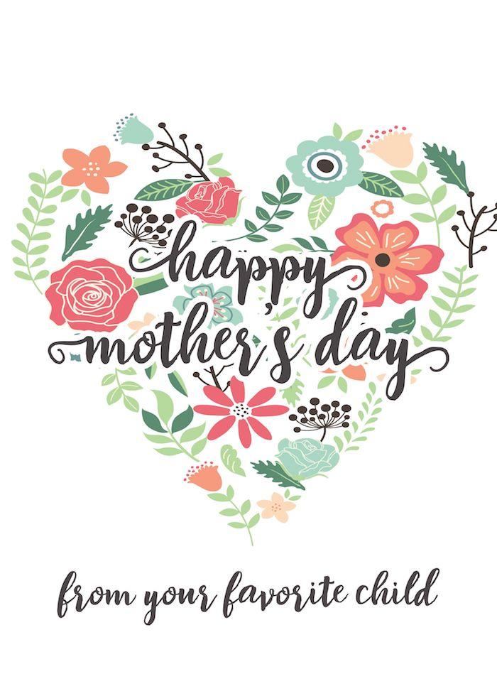 Joyeuse fête coeur de fleurs dessin image bonne fete maman, photo fete des meres, bonne fete maman