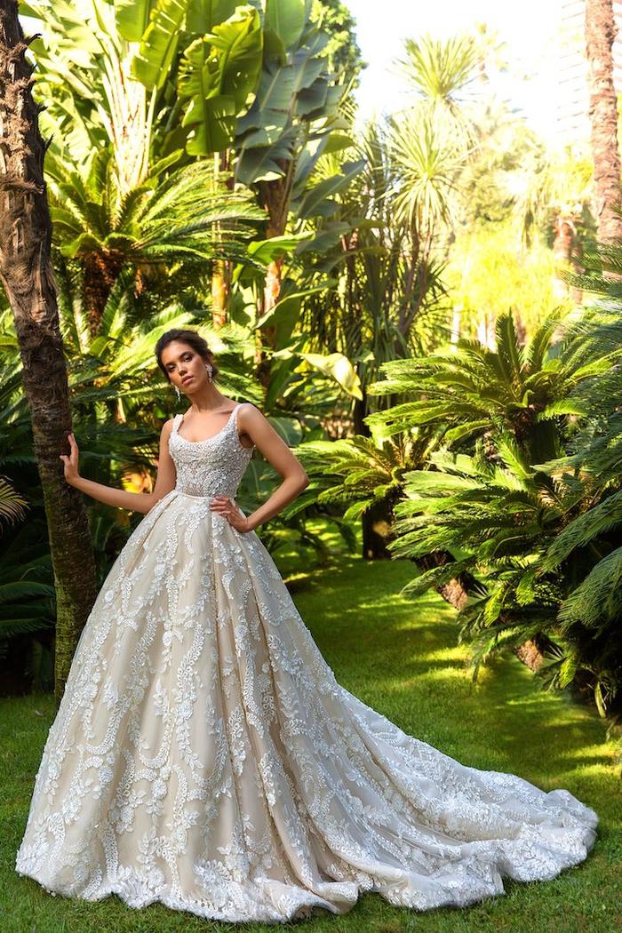 Style cuba, magnifique robe de mariée en dentelle pour les femmes qui se sentent comme des princesses, robe de mariée 2019 inspiration