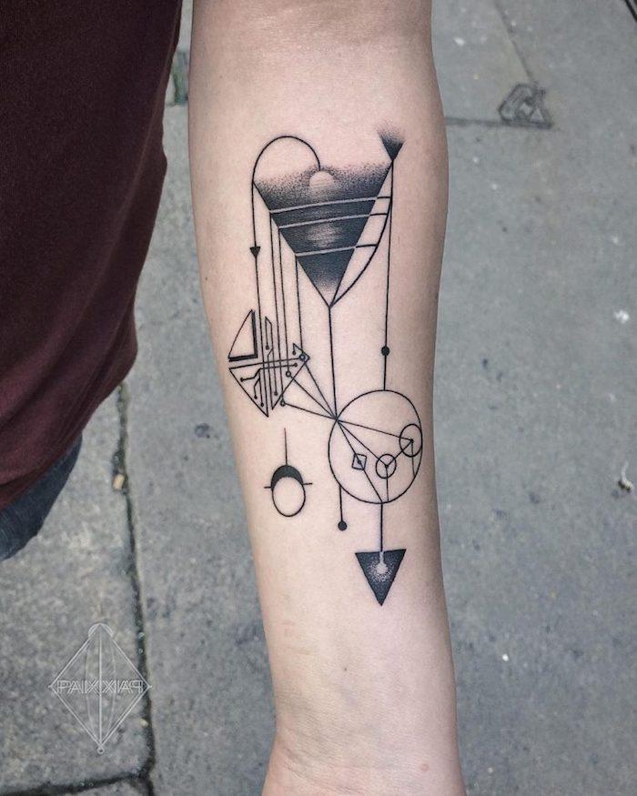 Géométrique tatouage modele tatouage, idée quel tatouage swag est pour moi originale image dessin abstrait
