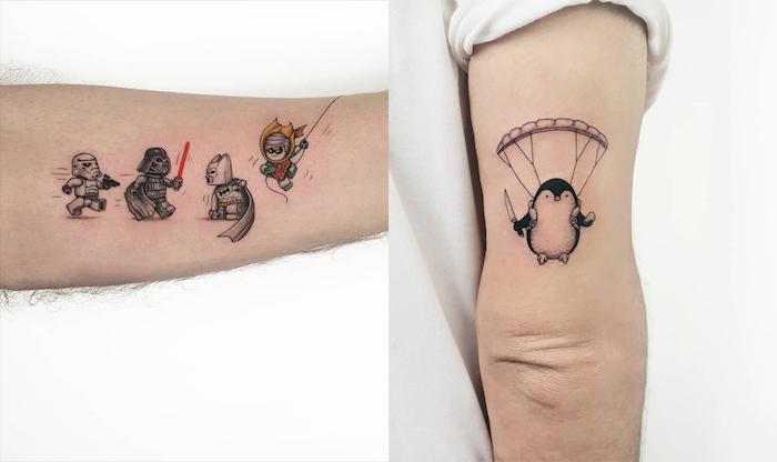 Swag minimaliste tatouage main, modele tatouage, les plus beaux tatouages, manchot volant tatouage swag style