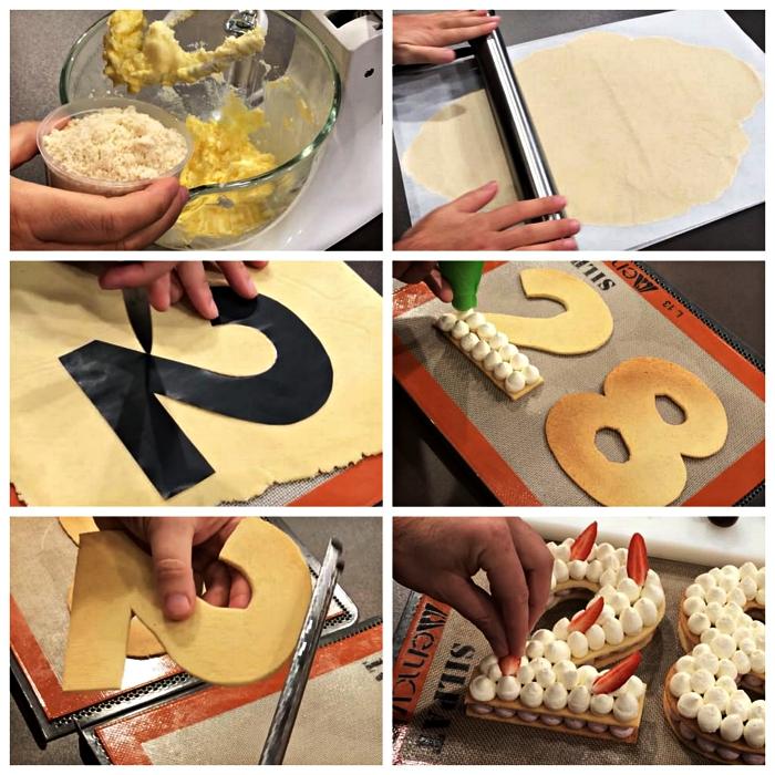 tuto pas à pas pour faire un gateau anniversaire facile en pâte sablée, découpée en forme de chiffre