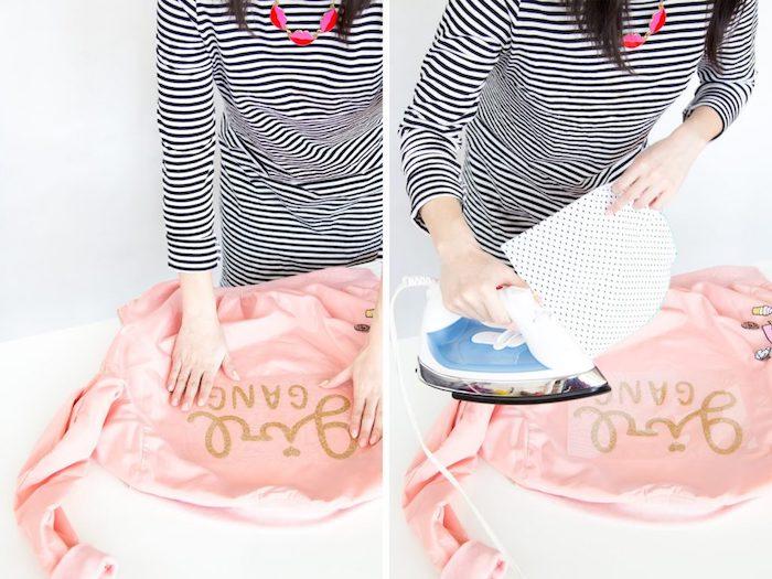 activité manuelle amusante pour femme, comment décorer ses vêtements, idée cadeau pour sa meilleure amie a faire soi meme