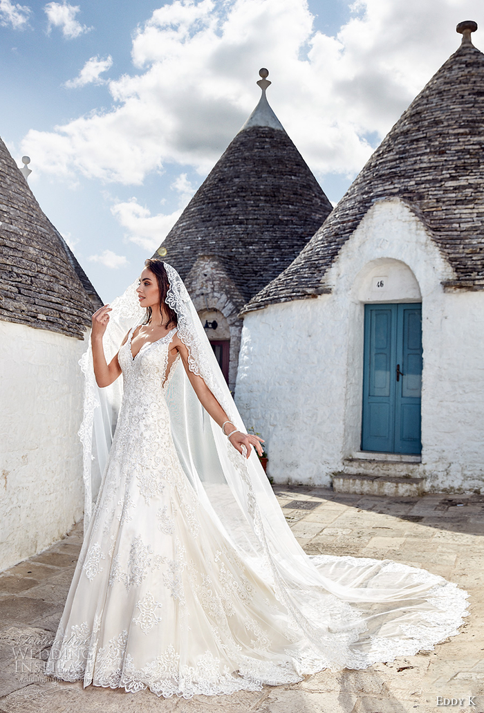 Alberobello photo de mariage italie, robe de mariée princesse 2019, tendances longue robe en dentelle