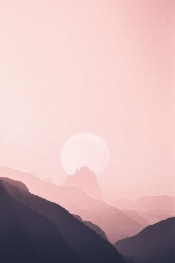 photographie paysage naturel, idée fond d écran paysage rose pour iphone, comment personnaliser son écran