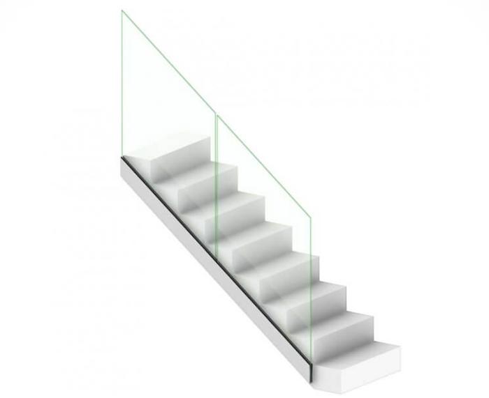 modele de rambarde d'escalier avec garde corps en verre plein
