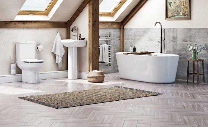 Photo de salle de bain aménagée sous les combles avec financement à crédit
