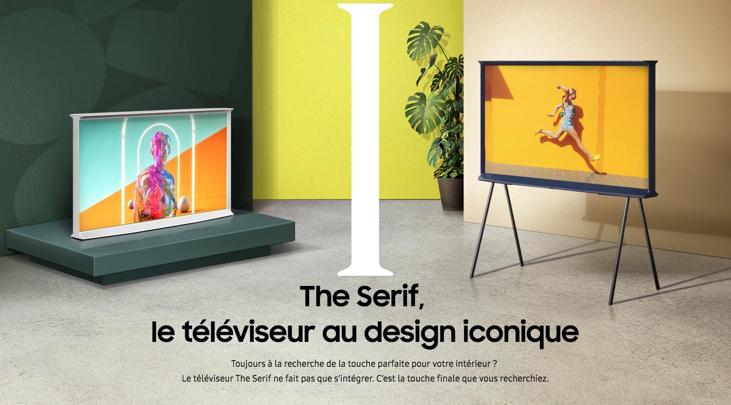 THE SERo fait partie de la nouvelle gamme de téléviseurs design et décoratifs lancée par Samsung avec les modèles Serif et Frame