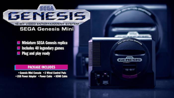 La nouvelle console Sega MegaDrive Mini ou connue sous le nom de Genesis aux USA sortira en septembre 2019