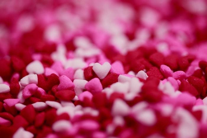 Coeurs colorés, photo originale perspective, les plus belles images fête des mères, texte pour la fete des mere