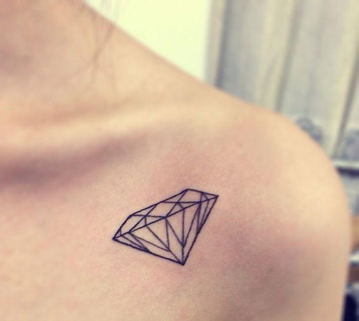 Diamant idée tatouage graphique moderne, tatouage main, cool tatouage, géométrique dessin beau