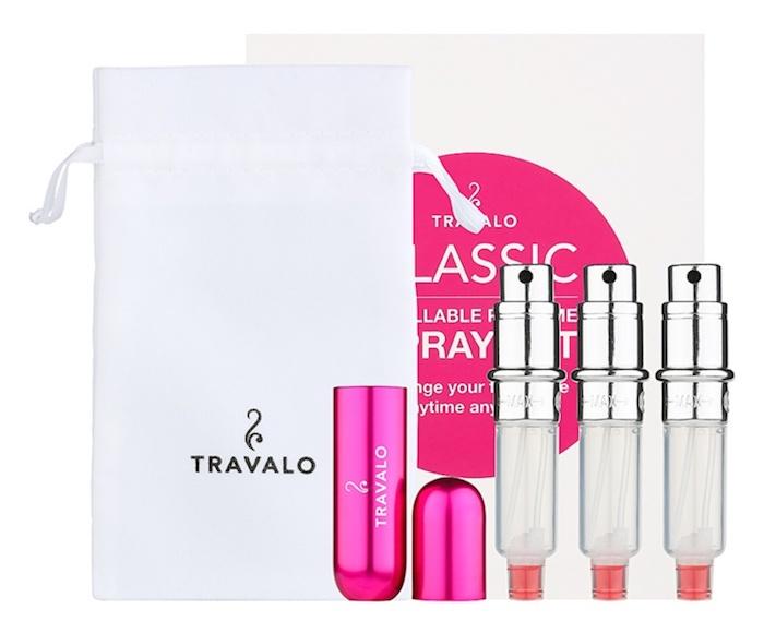 vaporisateur parfum rechargeable pour emporter ses parfums avec soi, travalo classic hd, box cadeau femme