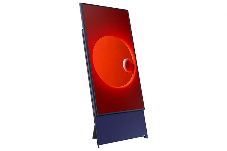La nouvelle télévision The Sero par Samsung, avec rotation verticale pour diffusion des stories instagram