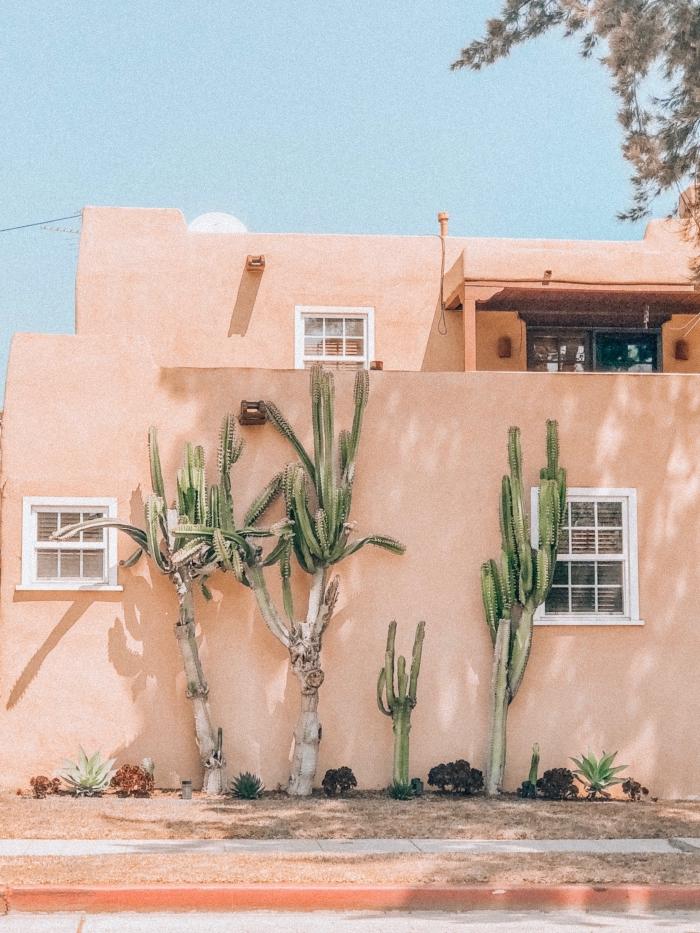 photographie sur le thème architecture, personnaliser son fond ecran telephone avec une photo façade maison exotique