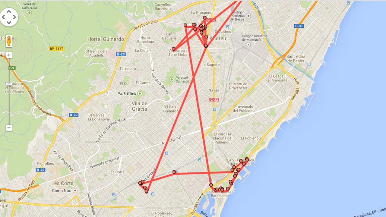 image d'illustration d'un historique de localisation suivi par Google Maps, qui sera bientôt automatiquement supprimé après une période définie de quelques mois