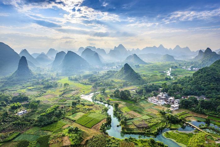 Yangshuo, Chine, paysage magnifique, Asie images paysages à découvrir, paysage magnifique pour fond d écran