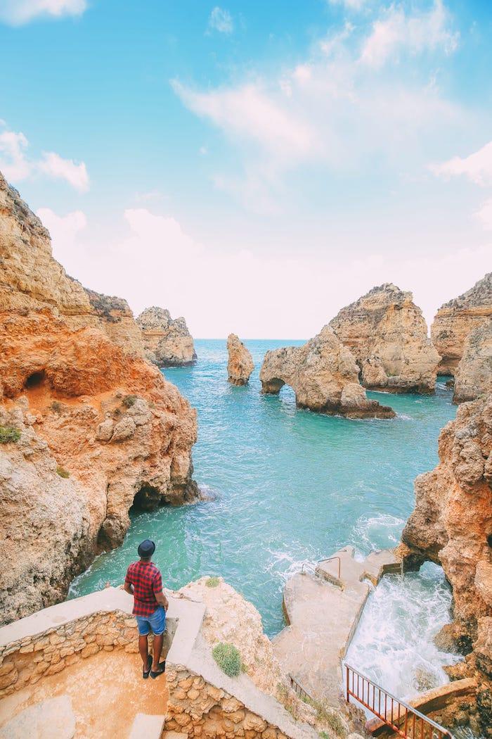 Ponta de la Piedade, Portugal océan et rochers en Algarve, les plus belles photos du monde, paysage magnifique choisir une image