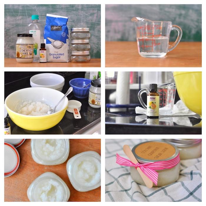 cadeau fin d annee maitresse, faire gommage maison au sucre avec huile de coco et huiles essentielles
